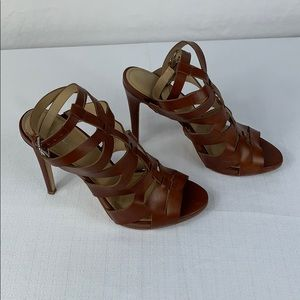 Guess Brown Strappy Sandal Heels size 9
